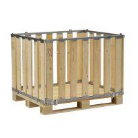 Palettenbox, MP BOX, zerlegbar, 1200x800x700