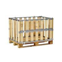 Palettenbox, MP BOX, gebraucht, mit Klapprahmen an der Längsseite, 1200x800x700mm