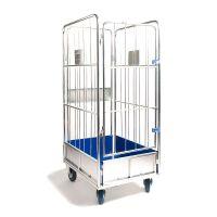 Gitterwagen für Wäsche, Klappbare Fronttür, 4 Seitenwände, 720x900x1750mm