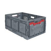 Kunststoffbox, perforiert, faltbar, 55 l, 600x400x260mm