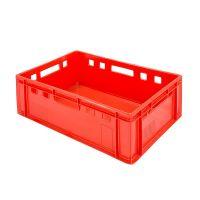 Euronorm E2 Behälter, 40 Liter Kapazität, rot, geschlossen 600x400x200mm
