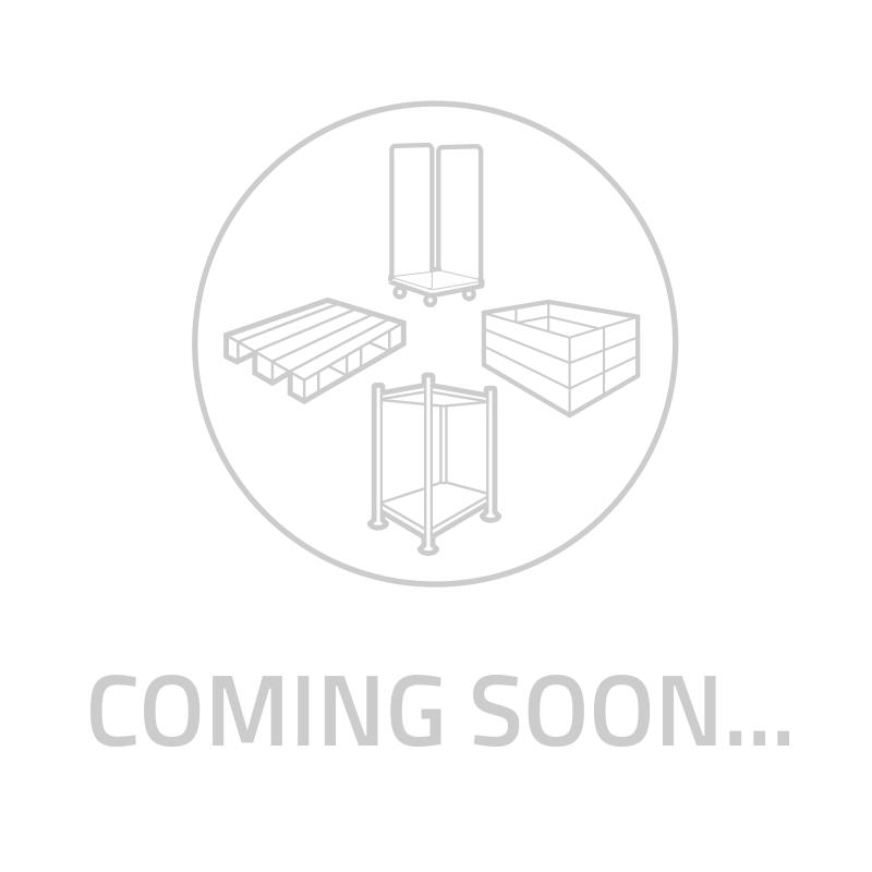 Kunststoffpalette, geschlossenes Deck, 6 Füße, nestbar, 800x600x130mm