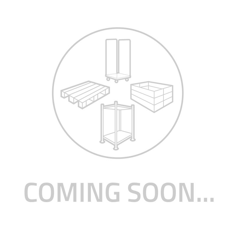 Kunststoffpalette, geschlossenes Deck, 9 Füße, nestbar, 1200x800x155mm