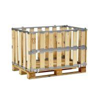 Palettenbox, MP BOX mit Klapprahmen an der Längsseite 1200x800x700x700mm