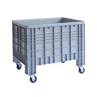 Palettenbox, 525 Liter, 4 Füße mit Rädern, geschlossen, 1200x800x800mm