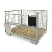 DB Gitterbox, neu, UIC Norm, klappbare Beladeöffnung, 1240x835x970mm