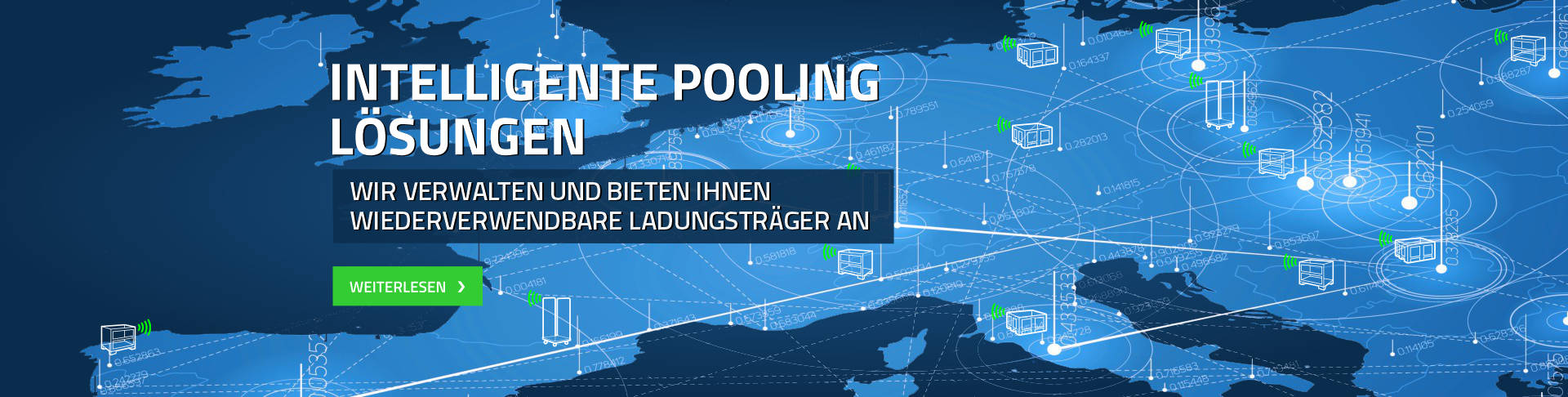 Intelligente pooling lösungen wir verwalten und bieten ihnen wiederverwendbare ladungsträger an